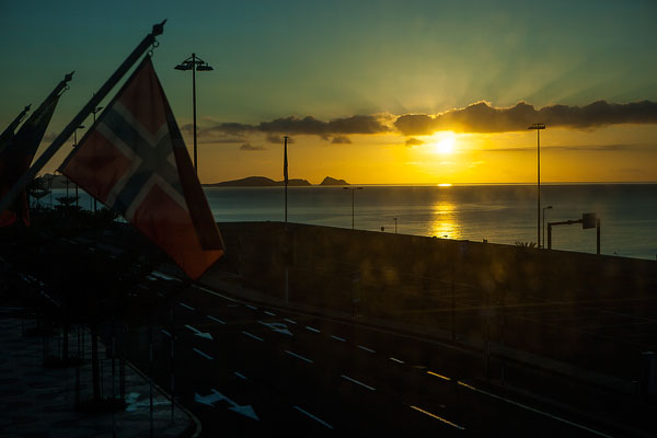 Sunrise from Funchal airport 2010